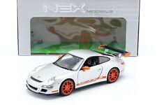 Porsche 911 (997) GT3 RS Coupe Baujahr 2007 silber / orange 1:18 Welly
