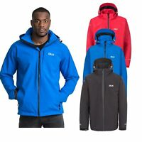 DLX Kumar DLX Mens Waterproof Jacket with Hood in Blue Red & Black