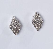 Rhodium beschichteter Mode-Ohrschmuck mit Kristall Clips