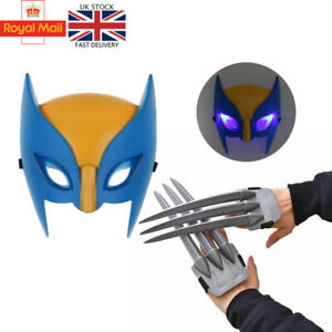 Wolverine claws X-men Hero Cosplay luminous LED Mask Logan Claws Kids Toys Gifts