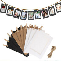 Paper DIY Wedding Decor Craft Photo Frame Picture Cards Handmade Wall Hanging HF