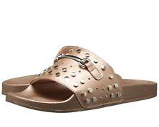REPORT Womens 'Gamila' Gold Studded Slide Sandals Sz 10 - 232423