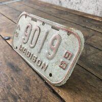 Rare License Plate Vintage Madison Wisconsin WI 60s Bike 67 68 1967 1968 X2