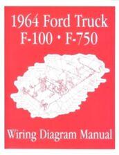 FORD 1964 F100 - F750 Truck Wiring Diagram Manual 64