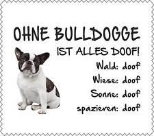 """Displayreinigunstuch Französische Bulldogge """"ALLES DOOF"""" Brillenputztuch GT0029"""