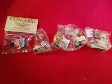 Vintage Set of Eight Miniature Christmas Figurine