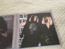 "CHEAP TRICK Signed Autograph in 1988 for ""The Flame"" Flat Poster Lap of Luxury"
