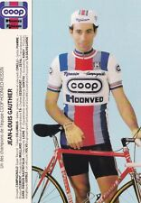 CYCLISME carte cycliste JEAN-LOUIS GAUTHIER équipe COOP HONVED ROSSIN 1984