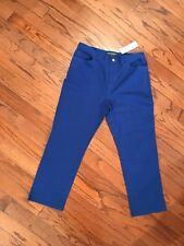 NWT Women's Lauren Jeans ROYAL BLUE CAPRI JEAN PANTS  US 14P Ret 79.50