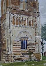 St Peters Northampton Watercolour Painting 1950 Ralph Hartley (British1926-1988)