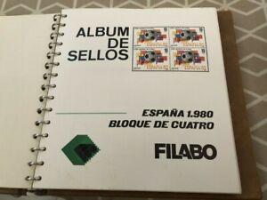 SELLOS DE ESPAÑA EN BLOQUE DE 4 AÑO 1983