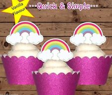 #670. Rainbows EDIBLE cupcake cake toppers fairy birthday