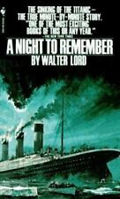 A Night to Remember by Walter Lord (1997, Paperback)