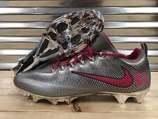 Nike Vapor Untouchable Pro iD Football Cleats Metallic Silver Chrome Pink SZ 16