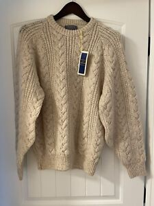Pendleton 100% Virgin Wool Sweater Country Traditionals Sz M Cable Knot New NWT