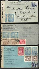 BOLIVIA 1940's 3 WARTIME CENSORED COVERS ALL TO US ONE