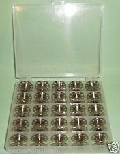 BOBBIN BOX + 25 KENMORE VIKING WHITE SINGER 15 CLASS SEWING MACHINE METAL BOBBIN