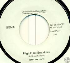 "JERRY LEE LEWIS HIGH HEEL SNEAKERS 7"" WHITE PROMO S2447"