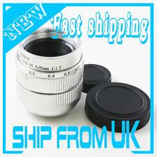 "35mm f/1.7 2/3"" C mount 12 blades CCTV lens body for Olympus Micro 4/3 Sony NEX"