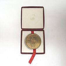 """Aus Nachlass Bronze Medaille Gedenkplakette Polen 1973 """"LWP"""" ca. 5,5 cm mit Box"""