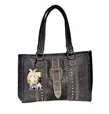 Montana West Antique Buckle Dual Sided Concealed Carry American Bling Handbag