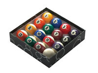 """Powerglide 1"""" 7/8"""" 48mm Set Of Spots and Stripes Pool Ball With Cue Ball"""