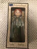 "Vintage Sears Roebuck 11"" Hand Painted composite Praying Angel Made Japan"