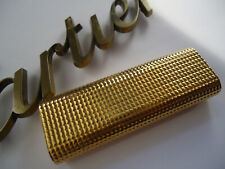 Cartier OVAL Lighter - Gold Plated 'Hobnail' Pattern - Cased - Briquet/Feuerzeug