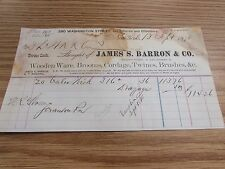 JAMES S. BARRON & CO - NEW YORK.  - BILLHEAD - 1870