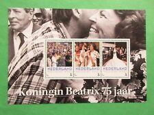 Persoonlijke vel 3012-D-7 Koningin Beatrix 75 jaar postfris