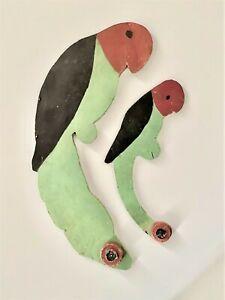 Folk Art Parrot Pair Cutouts