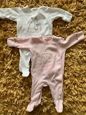 Next Baby Girl First Size Baby Grows 7.8lbs Bunny Unicorn Mummy Daddy Me Pink