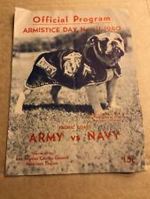 Official Program Armistice Day 1940 Pacific Coast Army Vs Navy Football