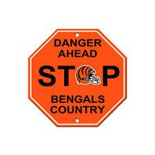 """New NFL Cincinnati Bengals Danger Ahead STOP Sign 12"""" x 12"""" Octagon Made in USA"""