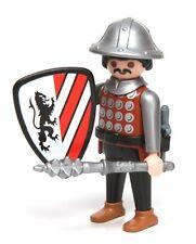 Playmobil Figure Custom Castle Knight Helmet Dagger Spiked Mace Lion Shield 3667