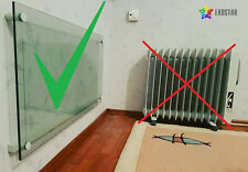 Electric Infrared Glass Panel Heater Radiator - Wall Mounted 500W