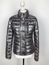 SUPERDRY Womens Insulated FUJI Puffer Jacket | Gloss SLIM FIT | Medium M Silver