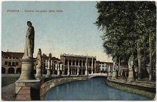 tarjeta postal PADOVA canal en prato de la valle