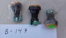 Lighted PushButton Switches, medium size, qty 3  (B149)