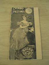 "1897 ADVERTISING Booklet~""BUCK'S STOVES & RANGES""~'Evening Pastimes'~Ephemera~"