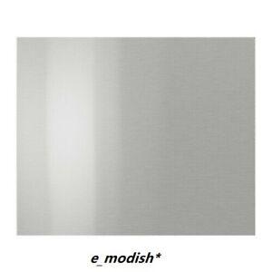 "Set of 2 - IKEA GREVSTA Front Drawer Kitchen Cabinet 18 x 15"" Stainless Steel"