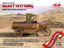 ICM 35664 WWI Australian Army Car Ford Model T 1917 Utility, Plastic Kit 1/35