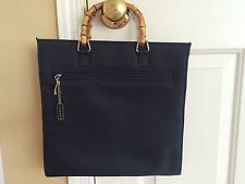 Women's Black Express Purse With Bamboo Handles