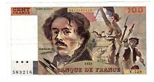 FRANCE Billet 100 FRANCS (  1978 - 1987 ) DELACROIX  TB // TTB