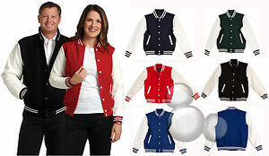 Wool Blend Varsity Jacket XXXS XXS XS S M L XL 2XL 3XL Adults Baseball Mens Kids