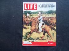 1957 JULY 8 LIFE MAGAZINE - KING RANCH ROUNDUP - L 1062