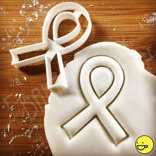 Awareness Ribbon Biscuit cutter Breast Cancer Ribbons Support Cause Event Cookie