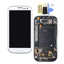 Display Per Samsung Galaxy S3 i9300 Bianco LCD Digitizer Touch Screen Schermo