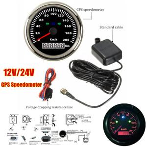 85mm Motorcycle GPS speedometer Odometer for Boat Backlight Waterproof Universal