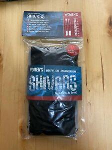 Women's Lightweight Long Underwear - MEDIUM - by Shivers - Skiing/Black/Grey